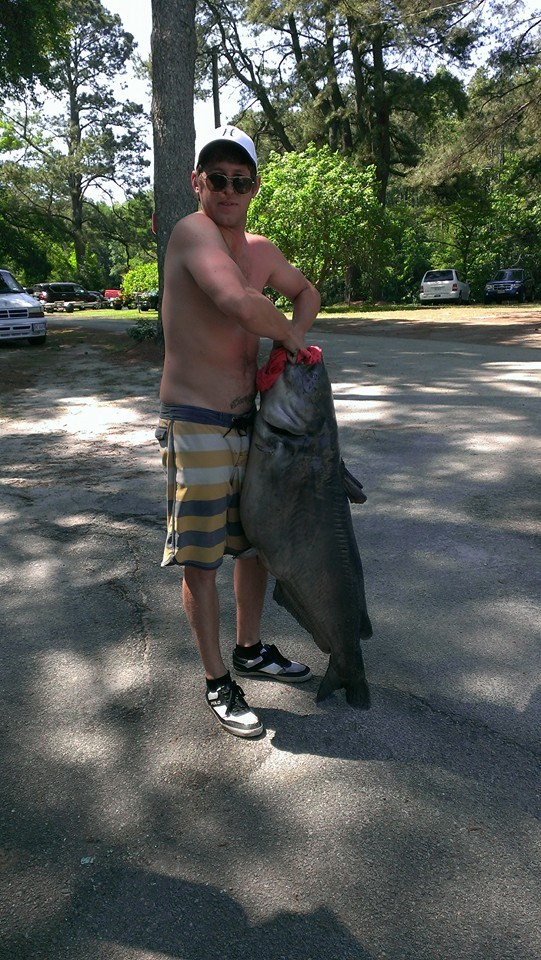 Jonathan Auvil with his 87lbs Catfish!