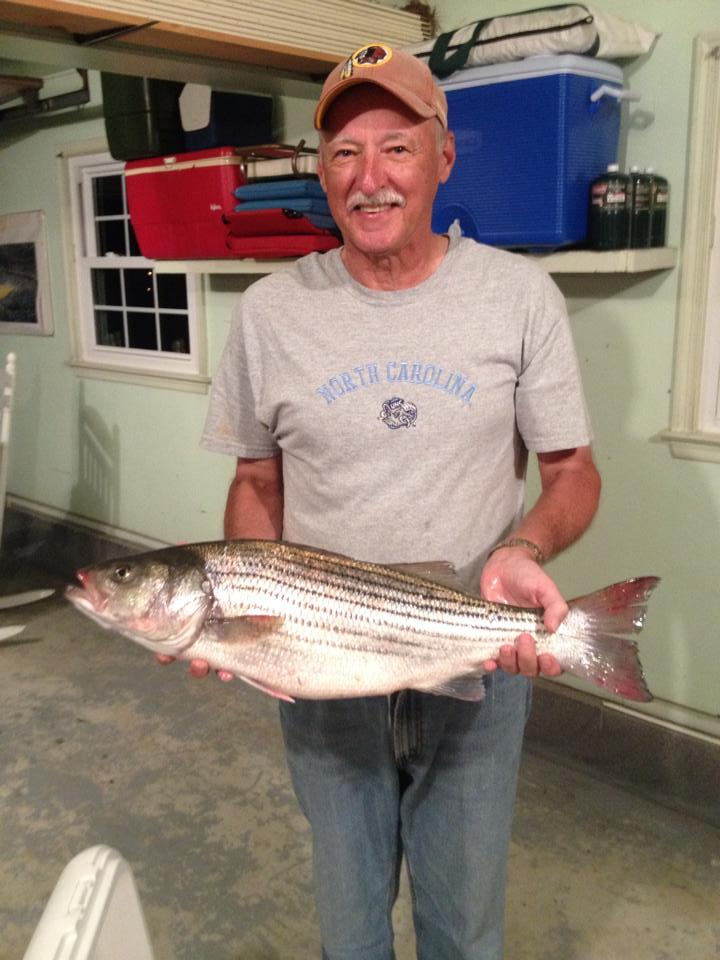 Harry caught this nice Rockfish on the James River!