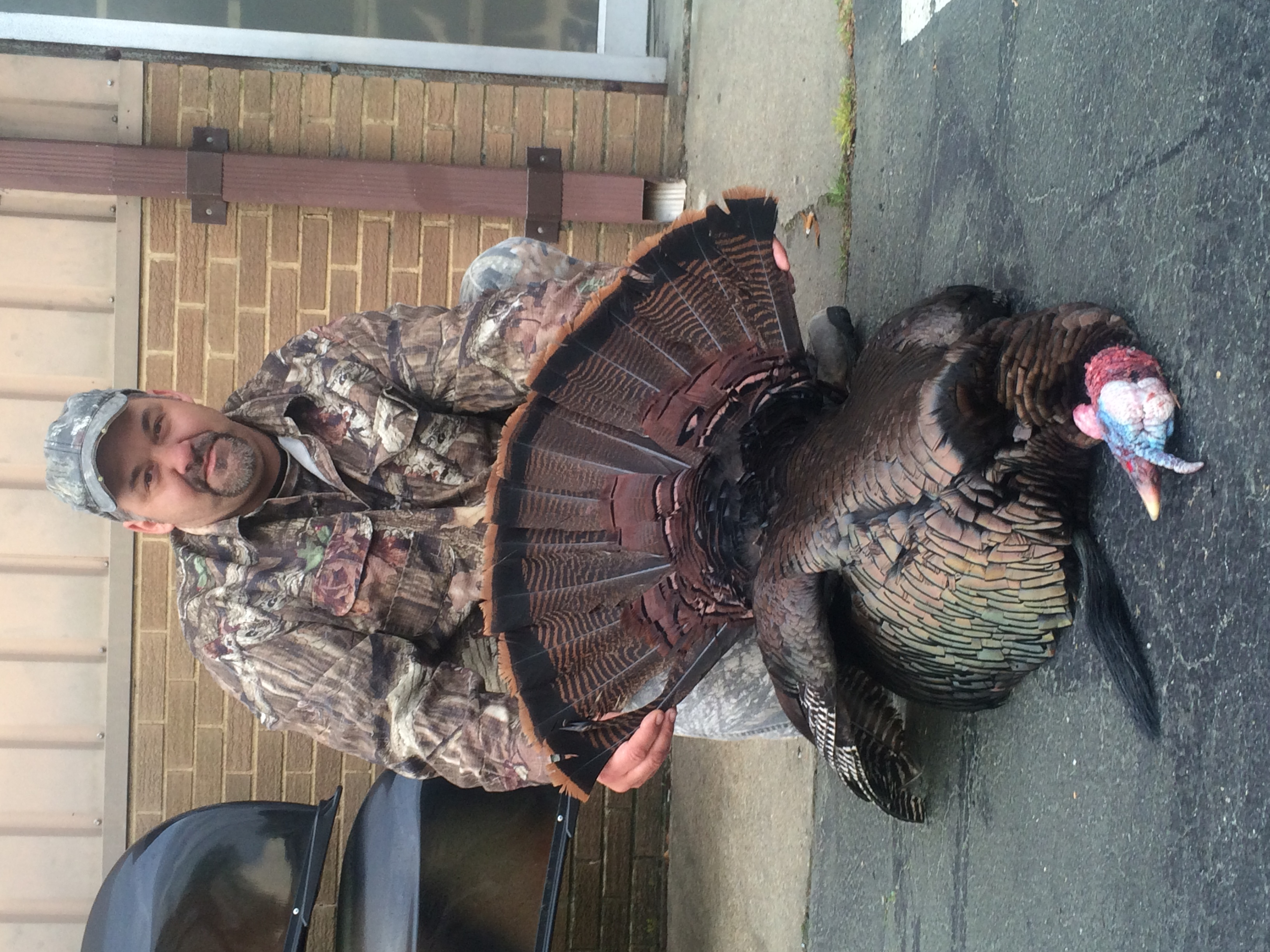 """Jimmy Mintz with his 23lbs, 8oz 11"""" beard turkey harvested in Surry County"""