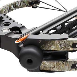 BIAS Rail™   One of the most performance-enhancing features of our MXB™ crossbows is the unique BIAS (BridgedIntegratedAccuracySupport) Rail™. The rail is as crucial to the accuracy of a crossbow as the barrel is to a rifle. Our BIAS Rail™ is machined and includes a bridge that runs along its centerline to provide the rigidity needed for ultimate accuracy. Another unique feature of the BIAS Rail™ is our beveled arrow track, which unlike the straight edges of most other crossbow rails, provides extra support and guidance for the arrow as it travels down the rail, once again, enhancing accuracy. The strategically positioned cutouts on the sides of the BIAS Rail™ also maximize the strength and rigidity, while minimizing weight, making our MXB™ crossbows both accurate and easy to maneuver.
