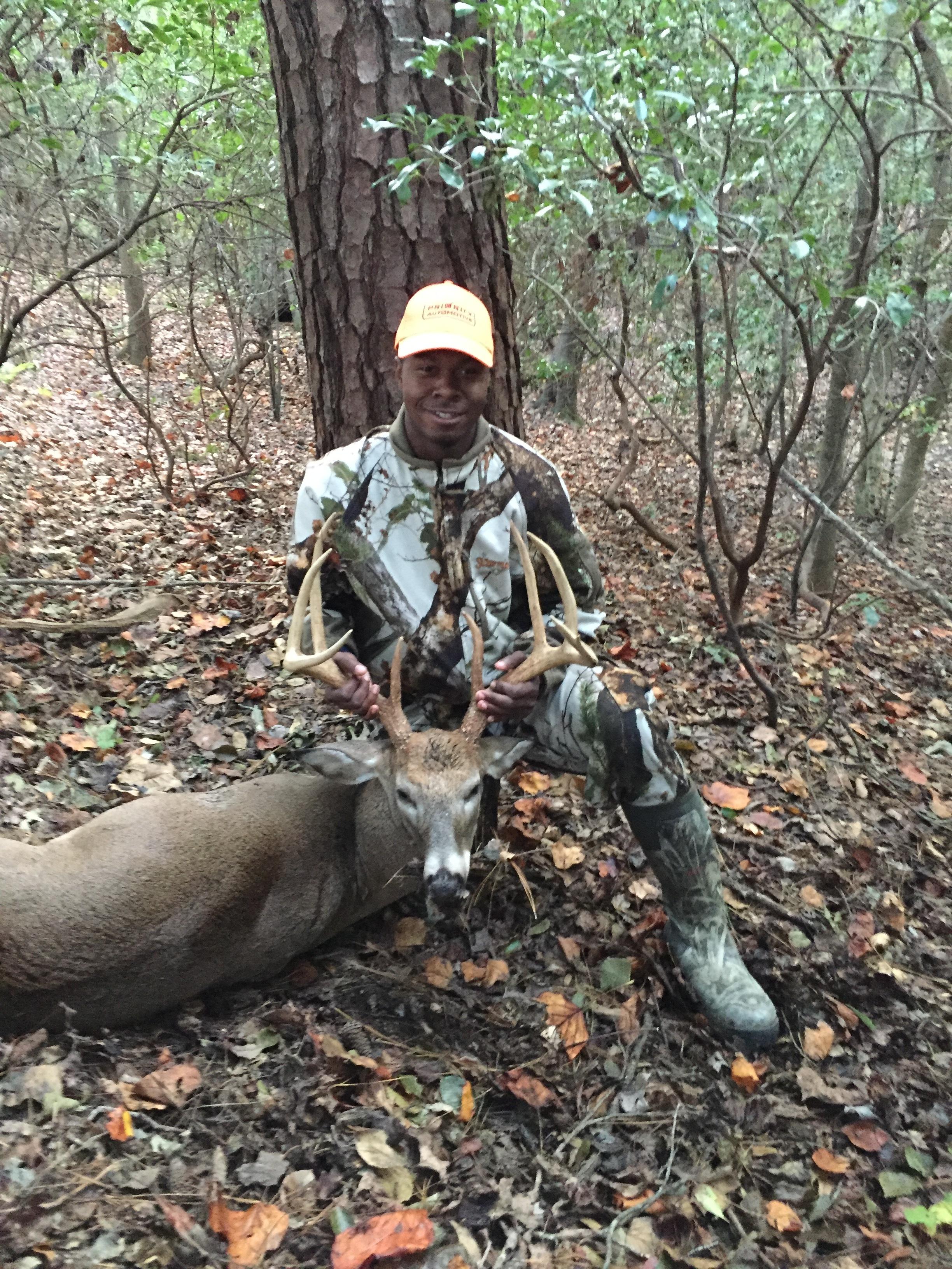 Walter Scott Jr. killed this 8 point buck in Suffolk on 10/17/15