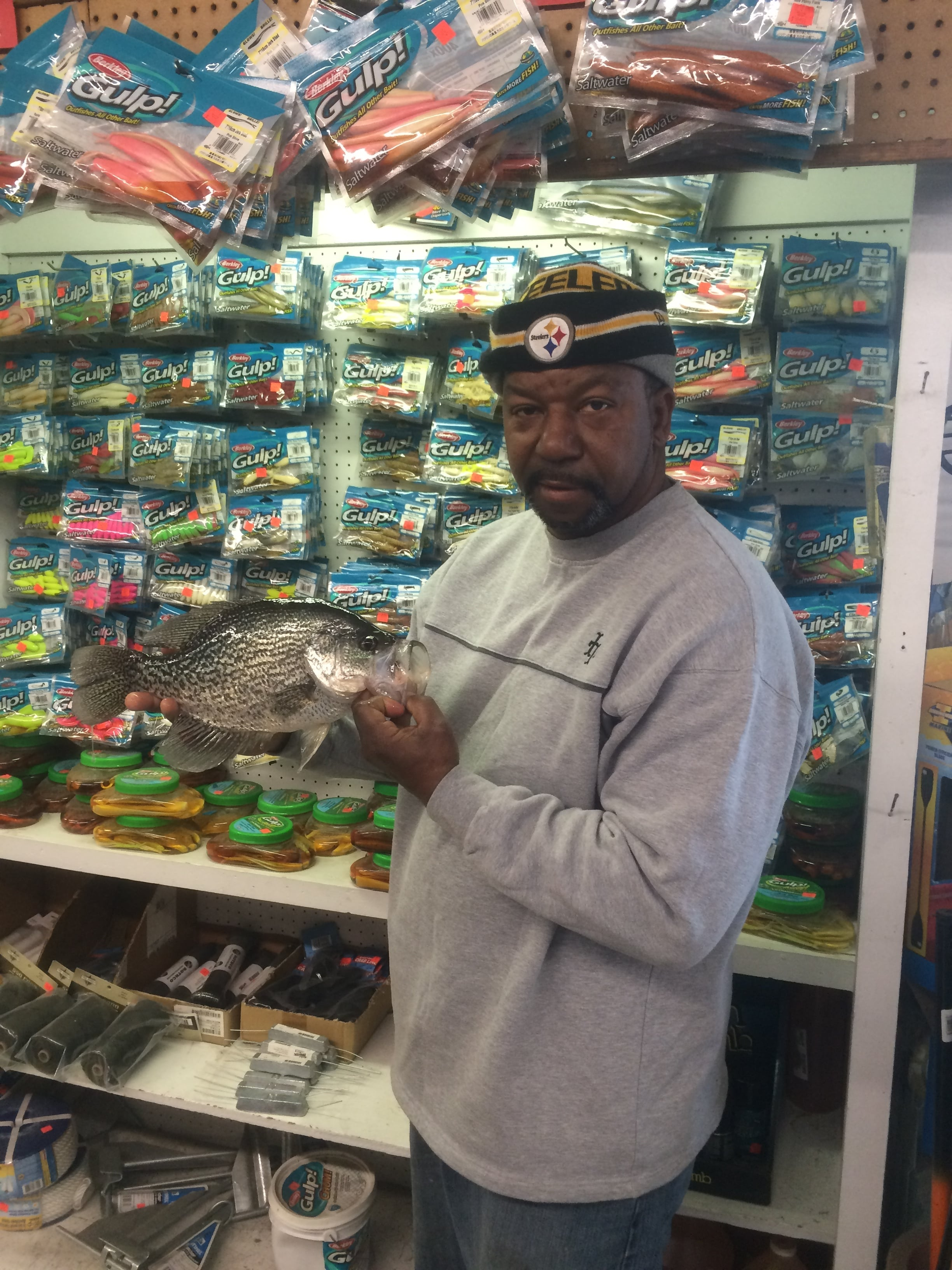 Congrats Teddy Taylor on this 2 pound 4 oz crappie! He caught it at Armistead Pointe Park Pond in Hampton on a live minnow.