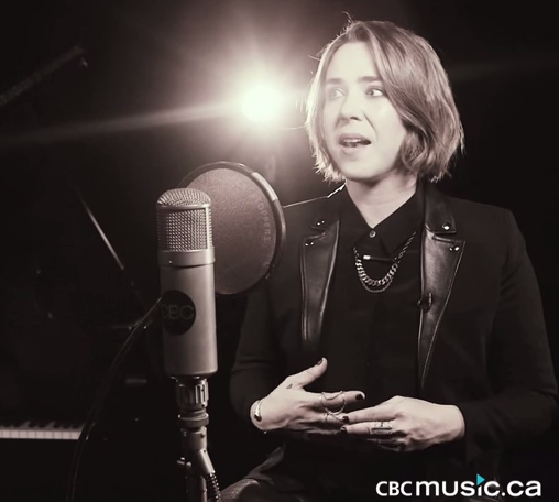 Serena Ryder - in her 'Together We Are One' video, the official song of the PanAm games, wearing  Emily Valentine Jewelry