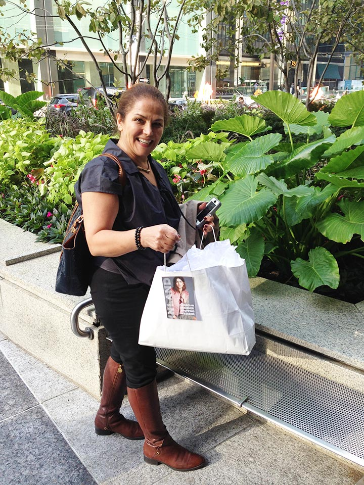 """Suzanne spent $800! This was her first time at INLAND. She heard about the show from her niece in Ottawa. """"It's such an important and wonderful event!"""""""