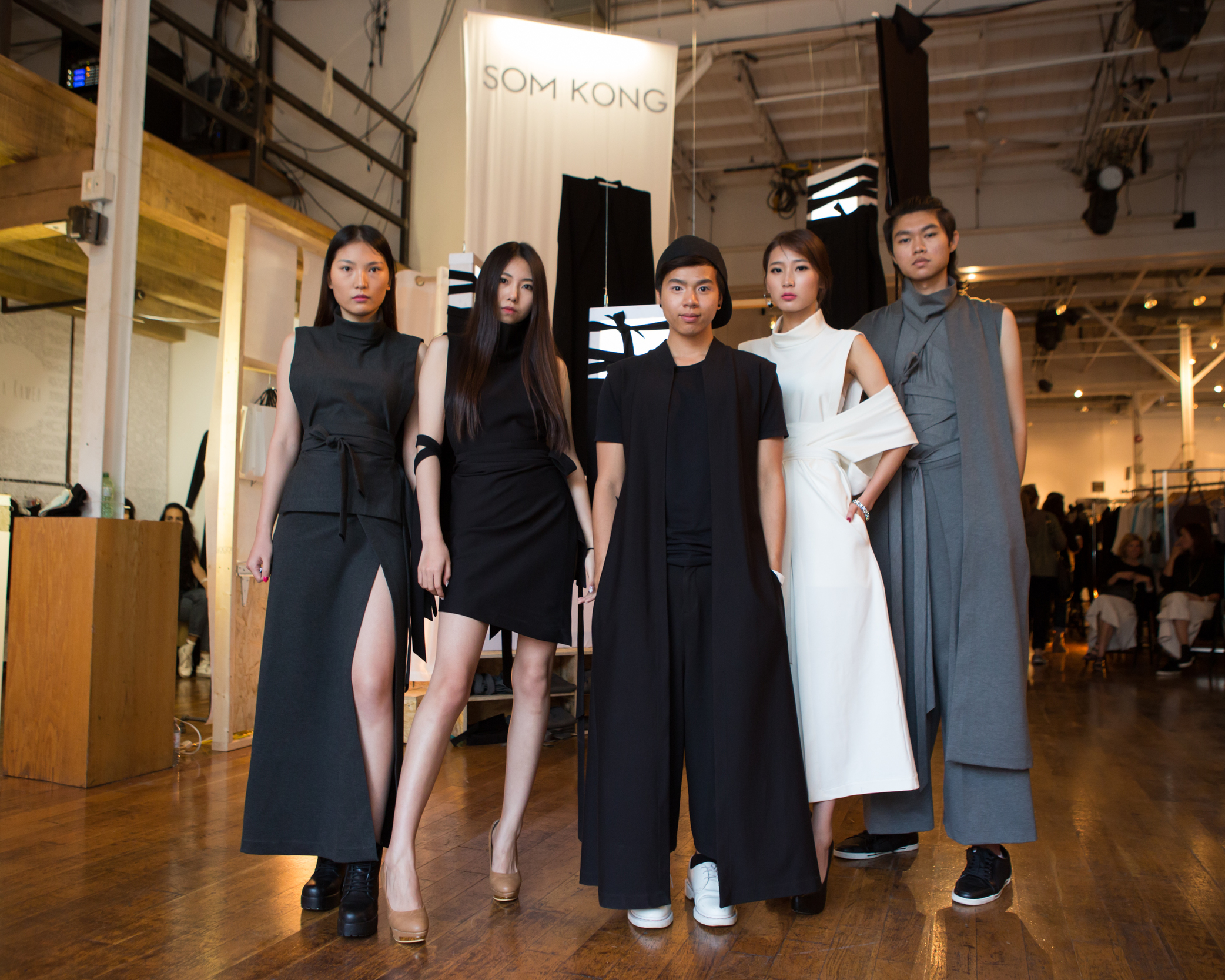 Som Kong and his team of models at #INLANDFall2015