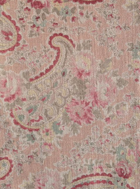 vintage paisley coral/taupe