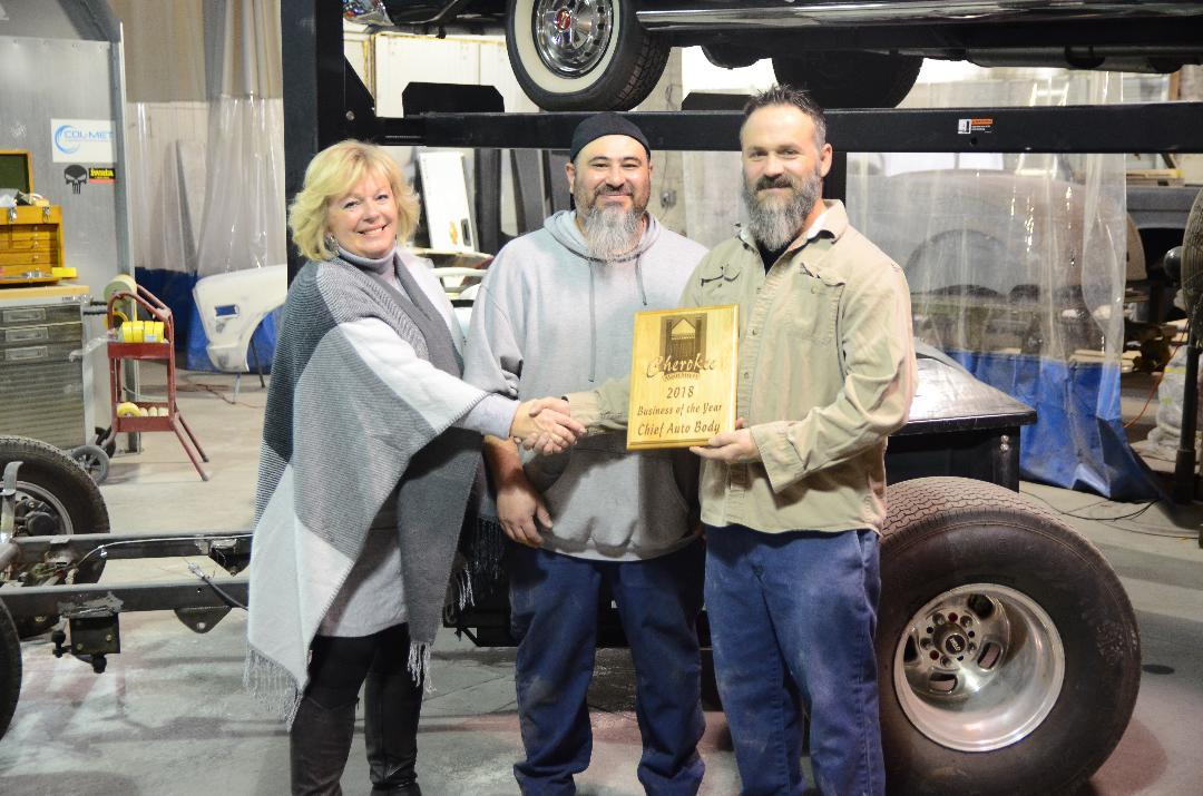 "Main Street did a Facebook poll of all the 2018 Business of the Month winners and let our community vote and who they wanted to be the 2018 Business of the YEAR and the winner goes to ""CHIEF AUTO BODY""!!!!"