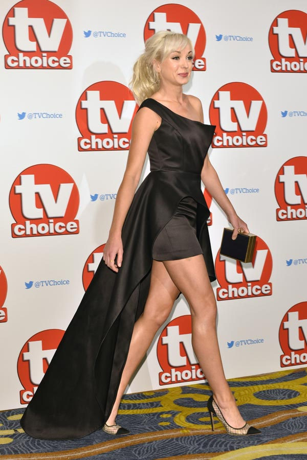 The 2015 TV Choice Awards held at the Hilton Park Lane.  Featuring: Helen George Where: London, United Kingdom When: 07 Sep 2015 Credit: Daniel Deme/WENN.com