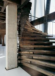 I have coveted this pic of a spiral staircase made from reclaimed lumber. I've searched, but can't find the details on exactly how it was made, but it is stunning.