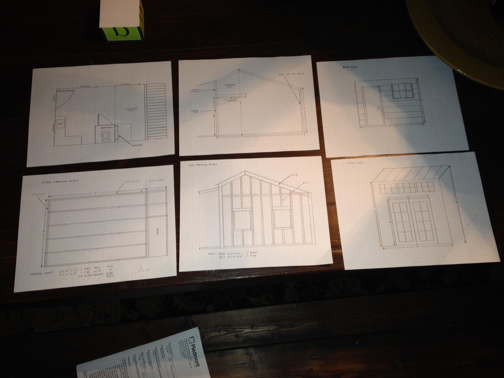A few rough sketches