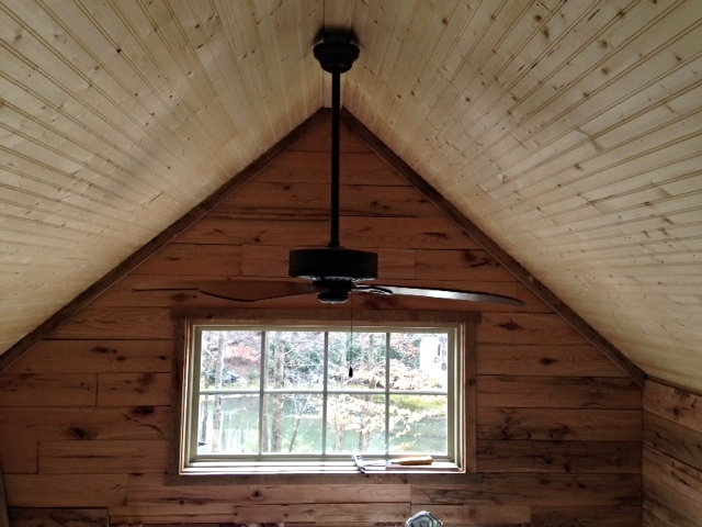 """Installed the fan with a 24"""" downrod. It has a light kit, but I might not use it."""