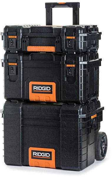 The Rigid Pro System stacks neatly on top of each other, is durable, and easy to move around.