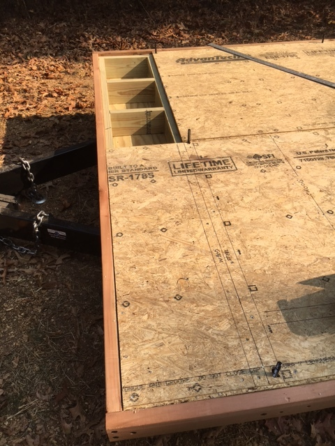 The subfloor going over the extension. I had to make a layout of all the framing members under the subfloor, and whether they are wood or steel, so I know what fasteners to use when I can't see them anymore.