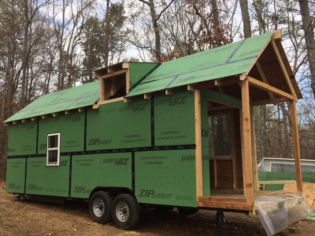 Still getting used to just how BIG this tiny house is!