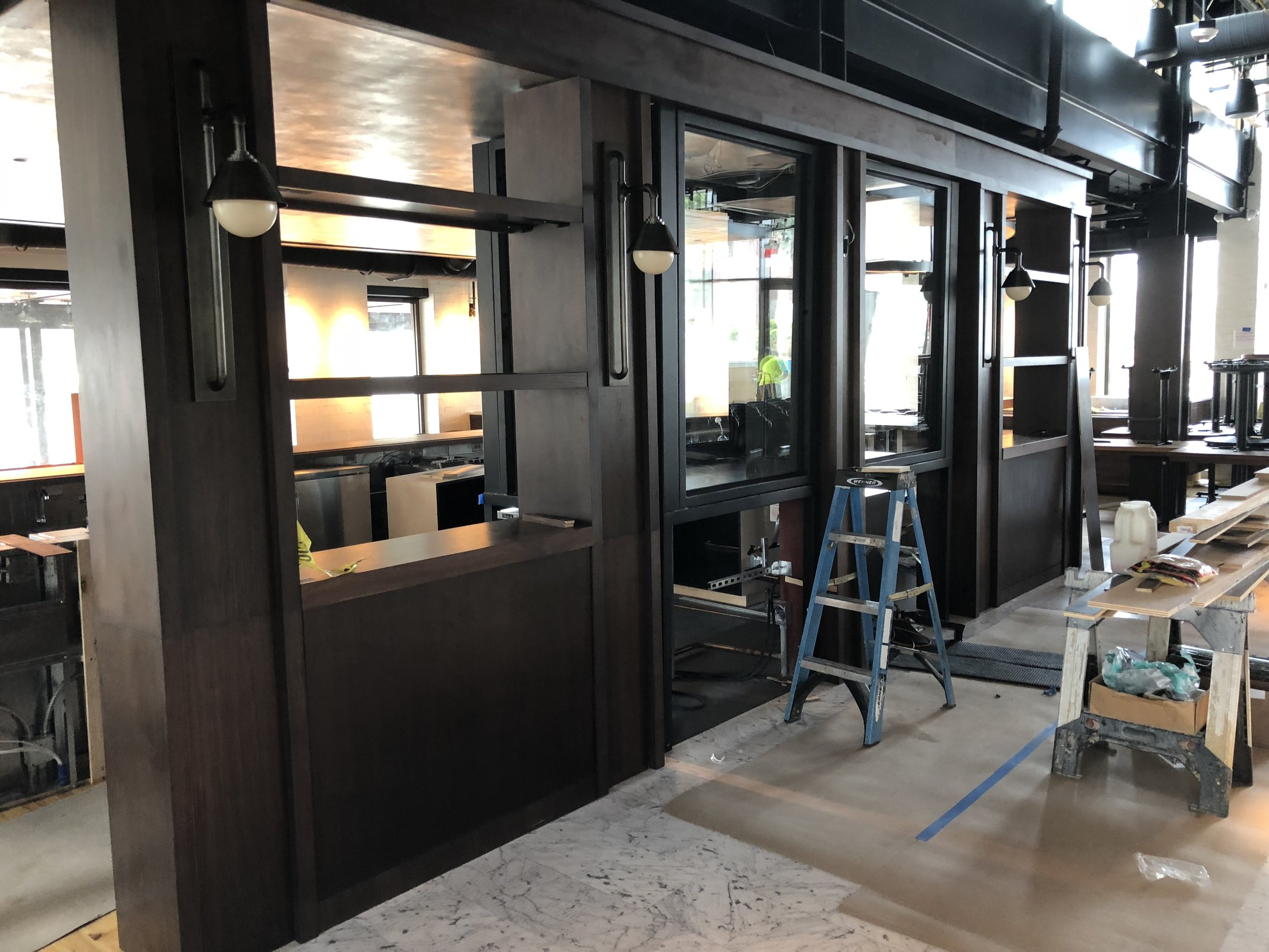 December 2018 - Installed this wood bar detail at the new Ecco Restaurant near Phipps Plaza in Atlanta.