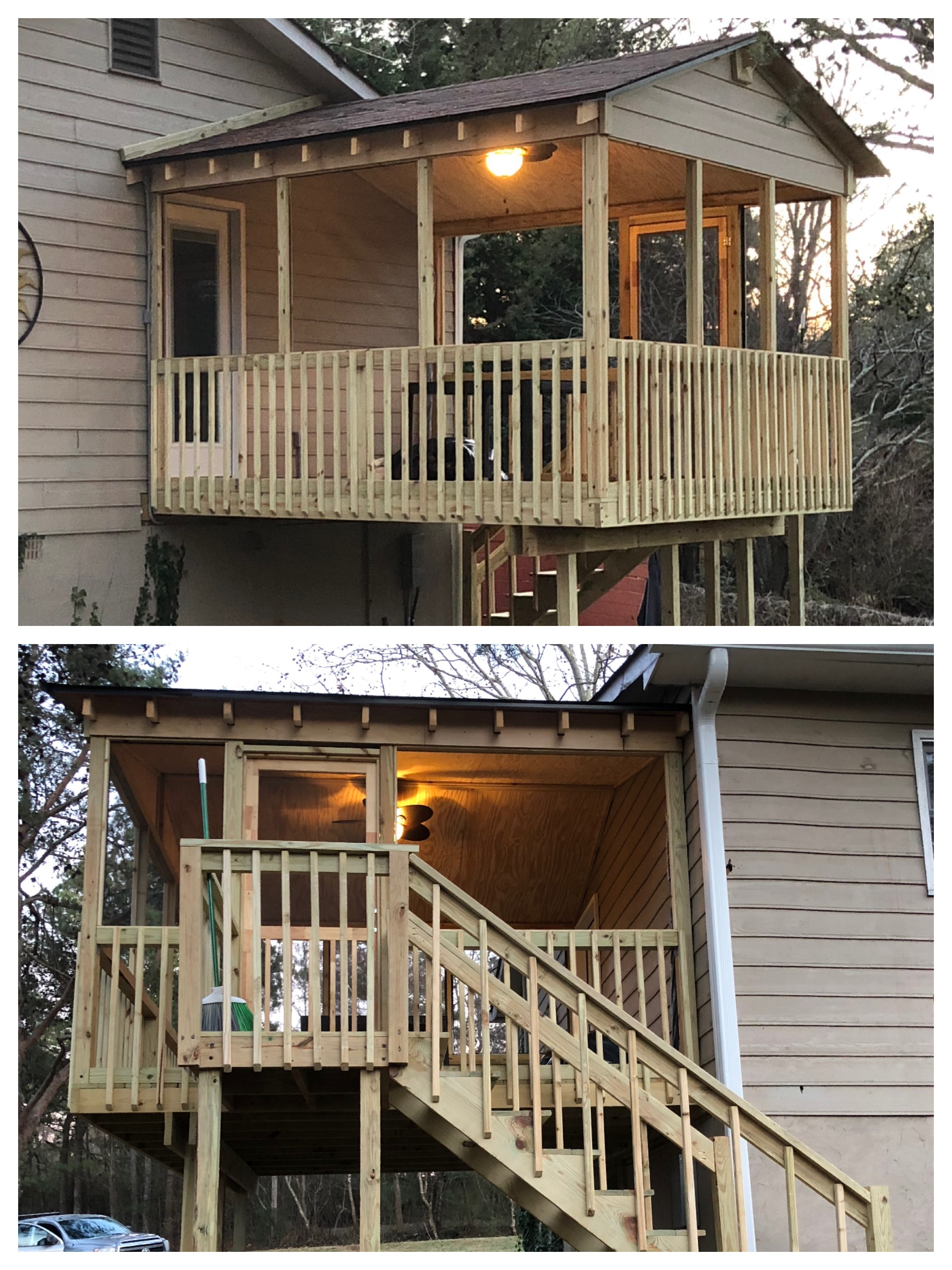 A screened porch addition we built for some long-time clients in Dallas, GA. Giving people new spaces to enjoy is so much fun!