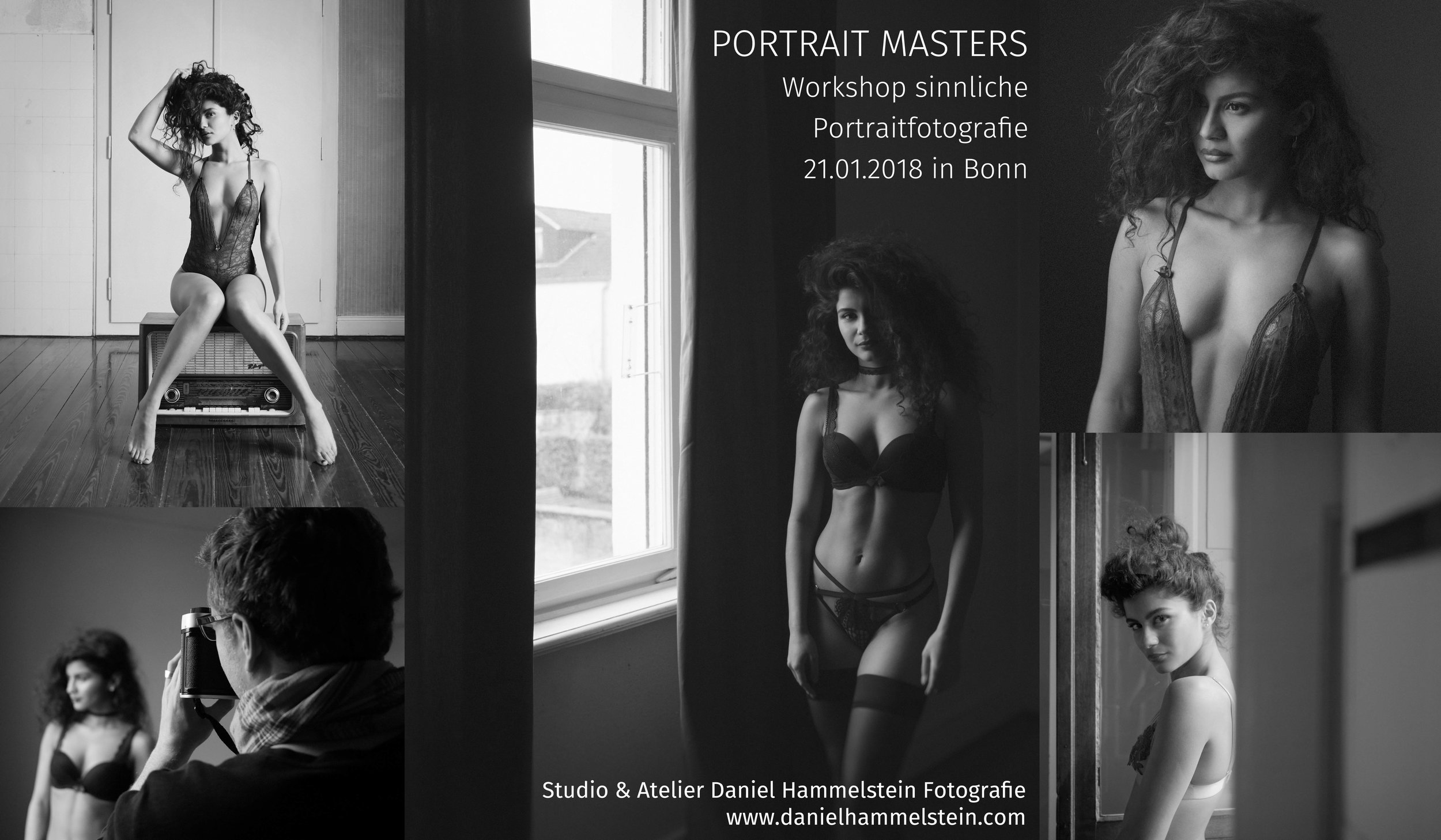 Workshop für Portraitfotografie Lingerie sinnliche Fotografie in Bonn