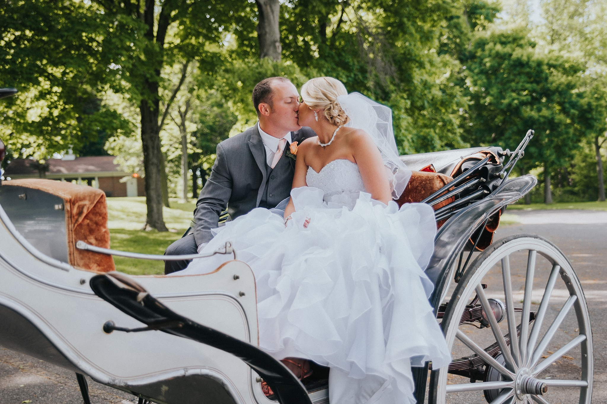 Shelby Chari Photography | South Bend Wedding Photographer | Horse and Carriage