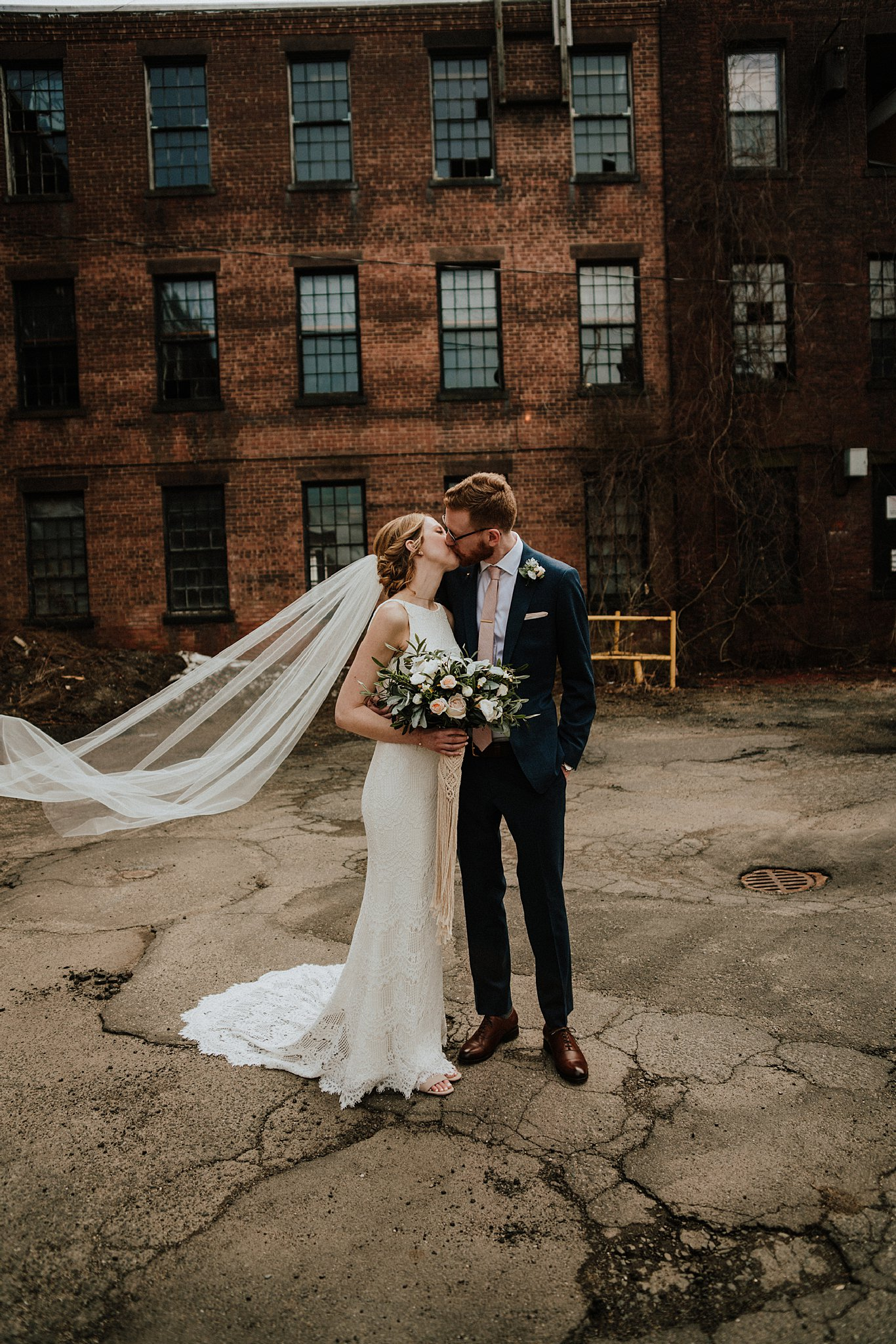 Bride and Groom | Wedding Day | Massachusetts Wedding | Mill 1 Wedding | Shelby Chari Photography