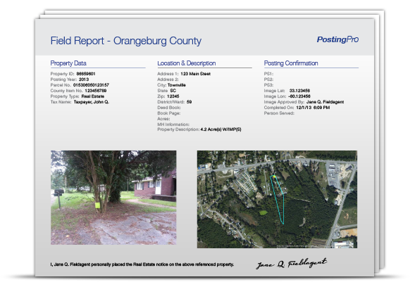 Electronic field reports so you can print only the ones you need.