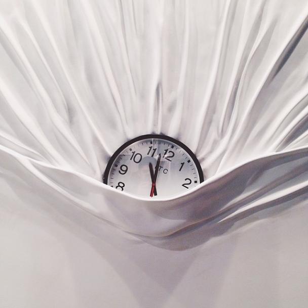 """""""Falling Clock"""" by Daniel Arsham"""