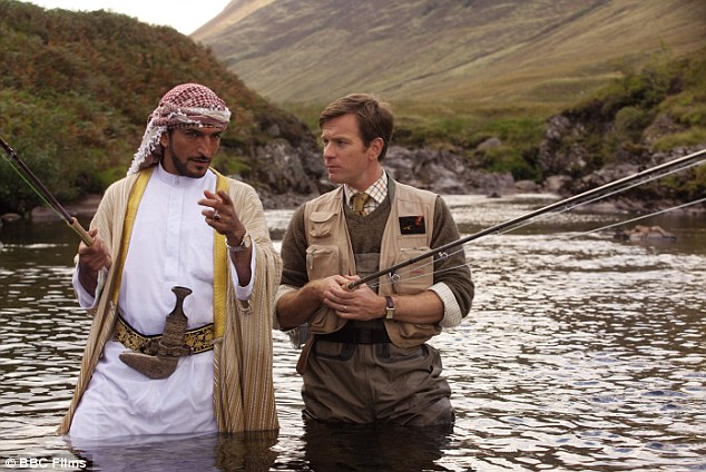 Amr Waked in Salmon Fishing in the Yemen