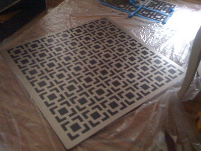 Hollywood Squares Stencil by Royal Design Studio