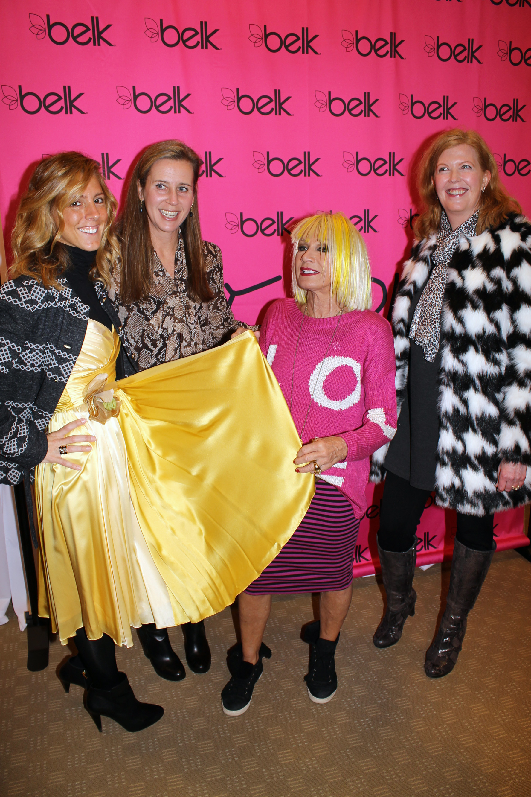 """I had a """"Betsey Blessed Wedding.""""  Smiling with Blair Farris, Editor of Peachy The Magazine, Betsey Johnson and Olivia Fortson, Social Editor of The Charlotte Observer and SouthPark Magazine."""