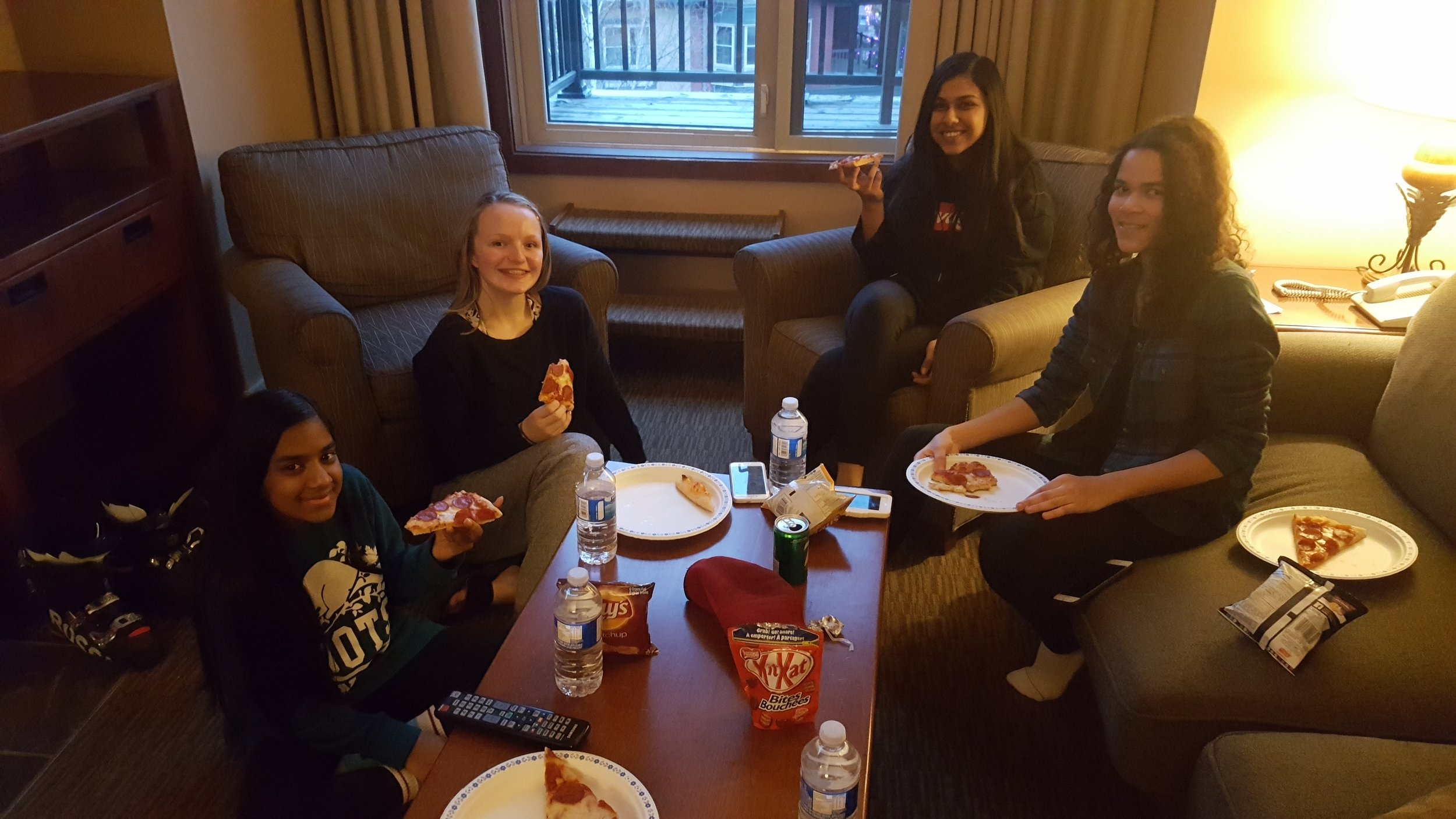 Pizza in their suites tonight!