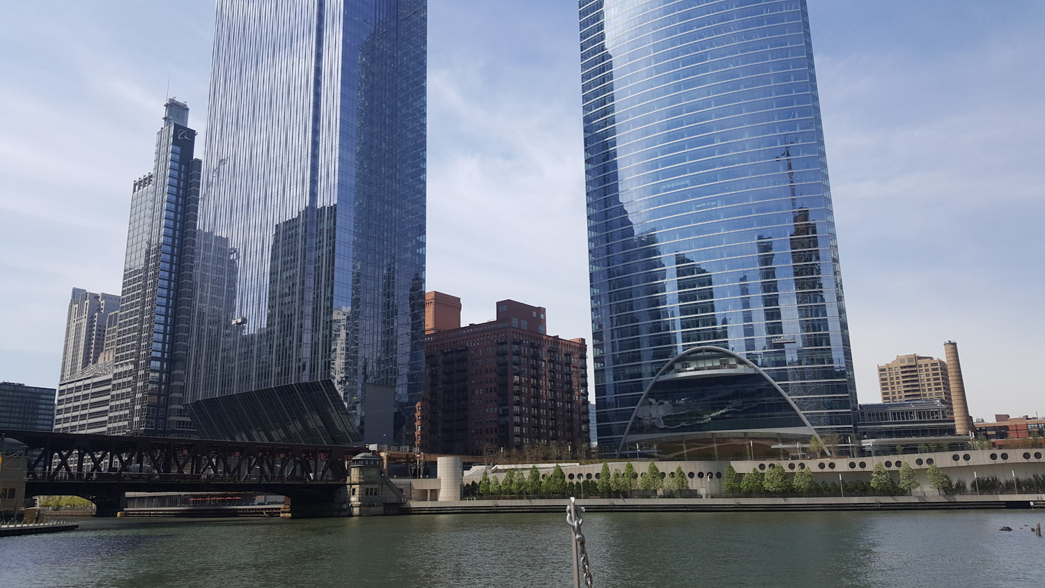 Wolf Point - Where the 3 branches of the Chicago River meet. This is considered the birthplace of the city.