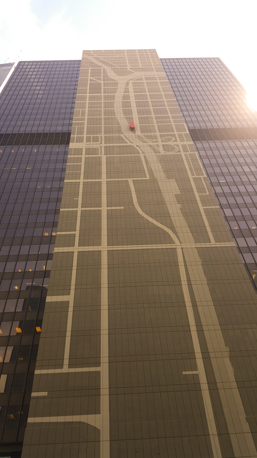If you're ever lost, they were kind enough to build a concrete map of the Chicago River on this skyscraper