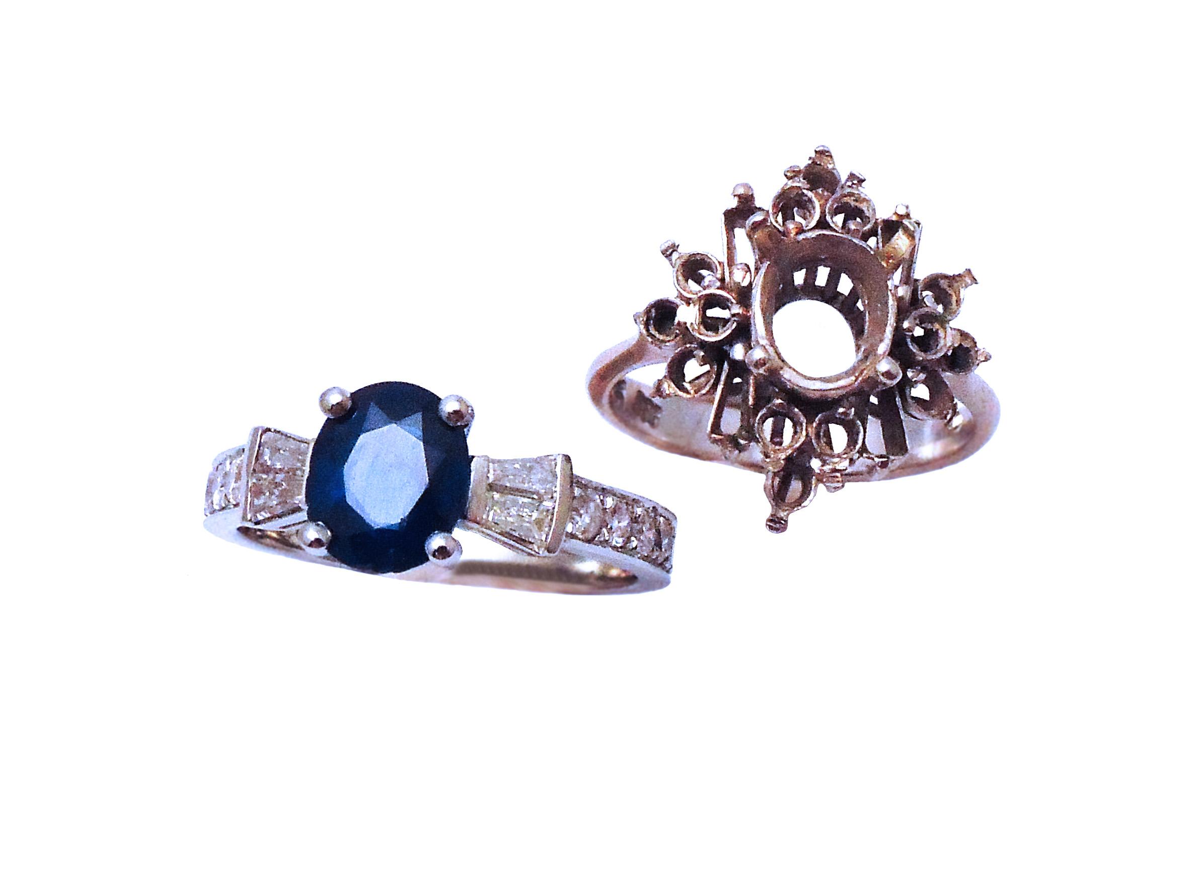Sapphire and Diamond Ring Remake
