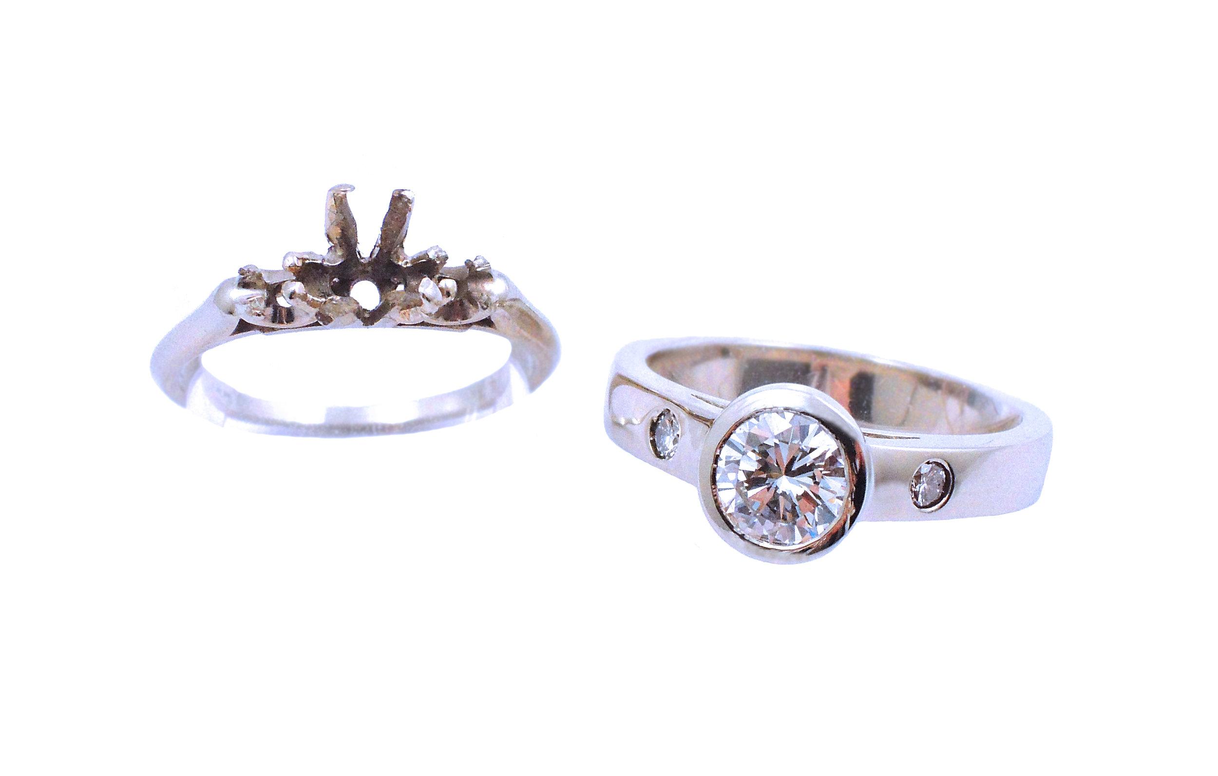 Custom Diamond Ring Redesign