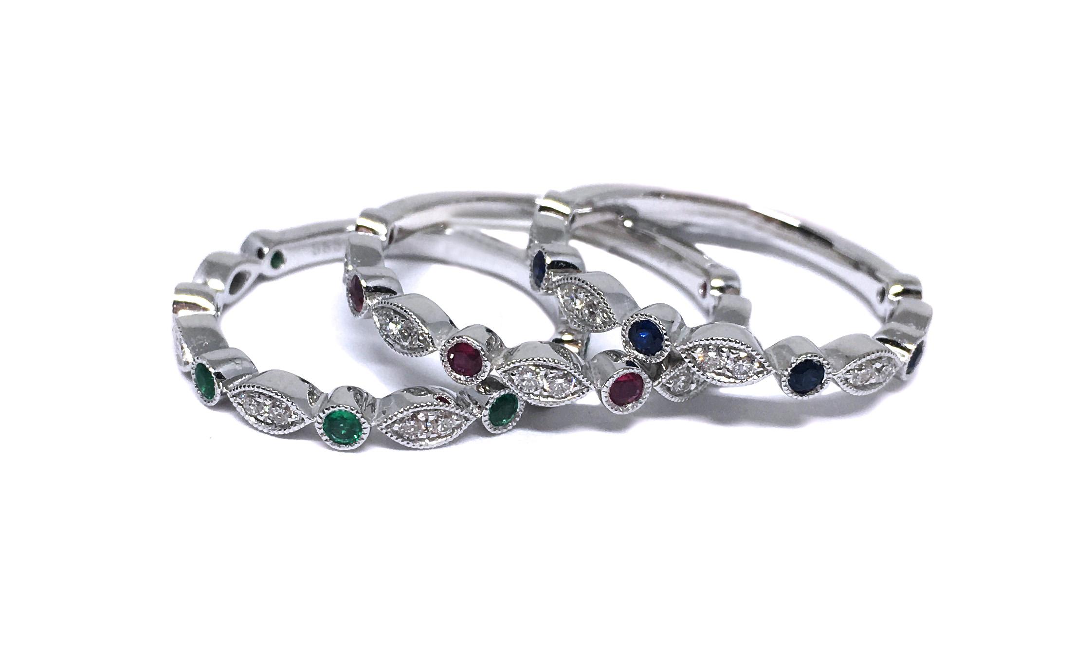 Diamond & Gemstone Stacking Rings