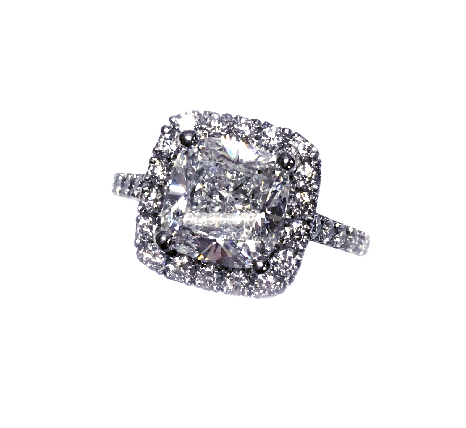 Custom 3ct Diamond Halo Ring