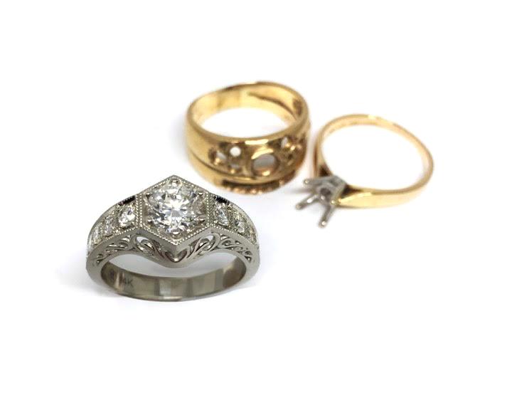 Custom Antique-Inspired Ring