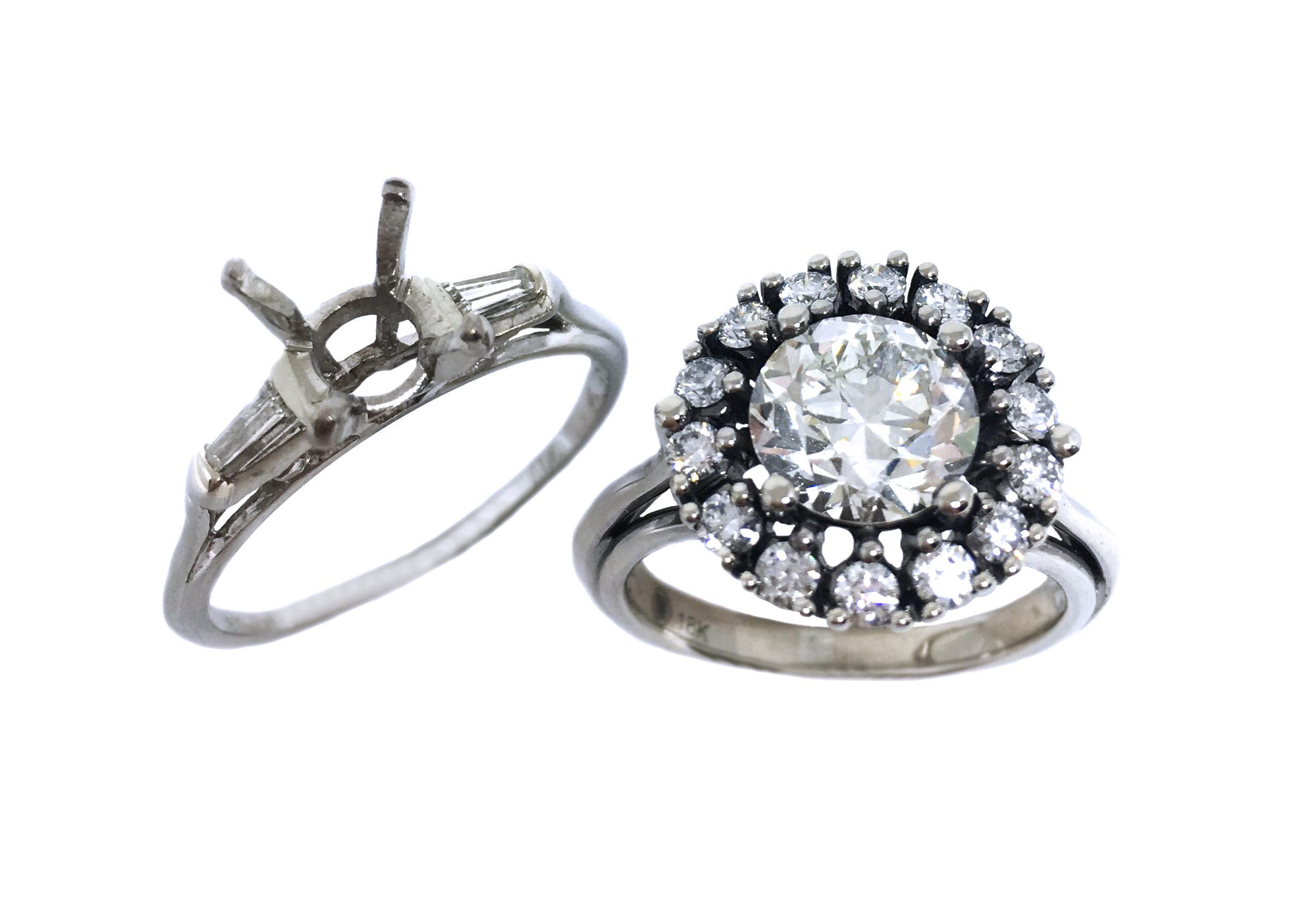 Custom Antique Reproduction Diamond Ring