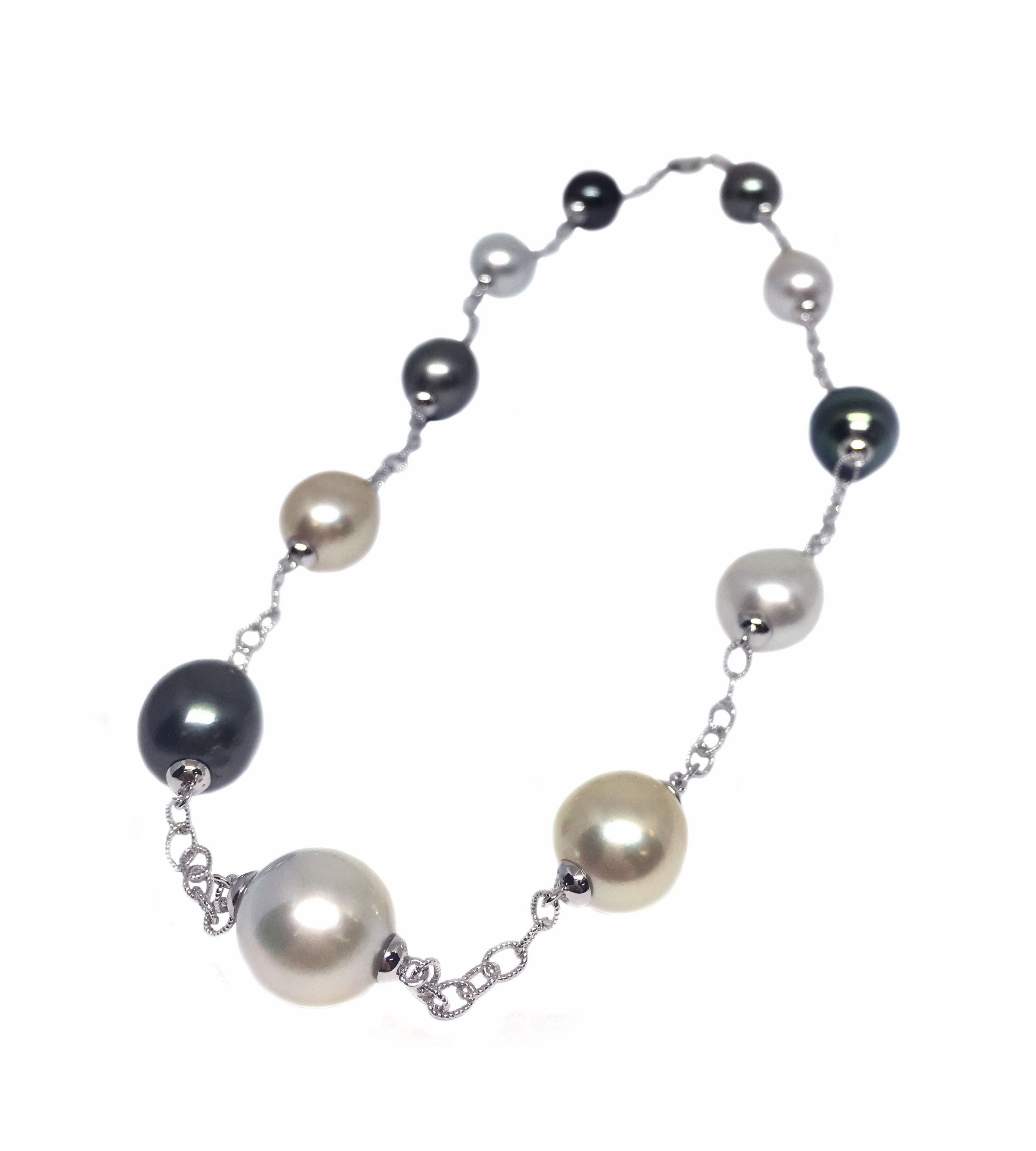South Sea Pearl Station Necklace
