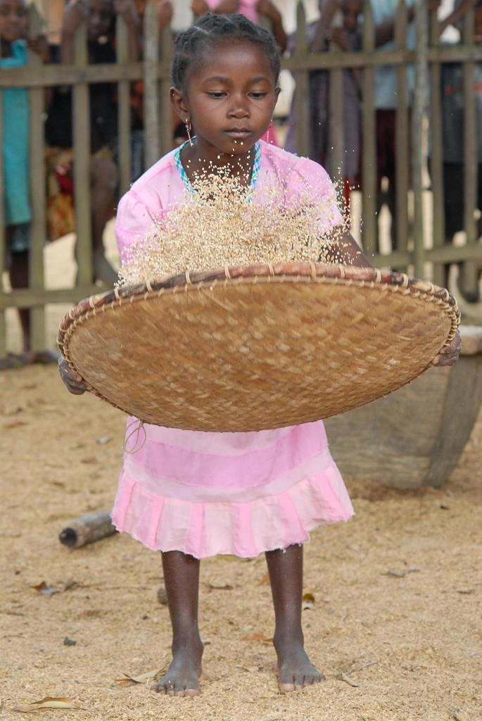 Morning chores in Madagascar