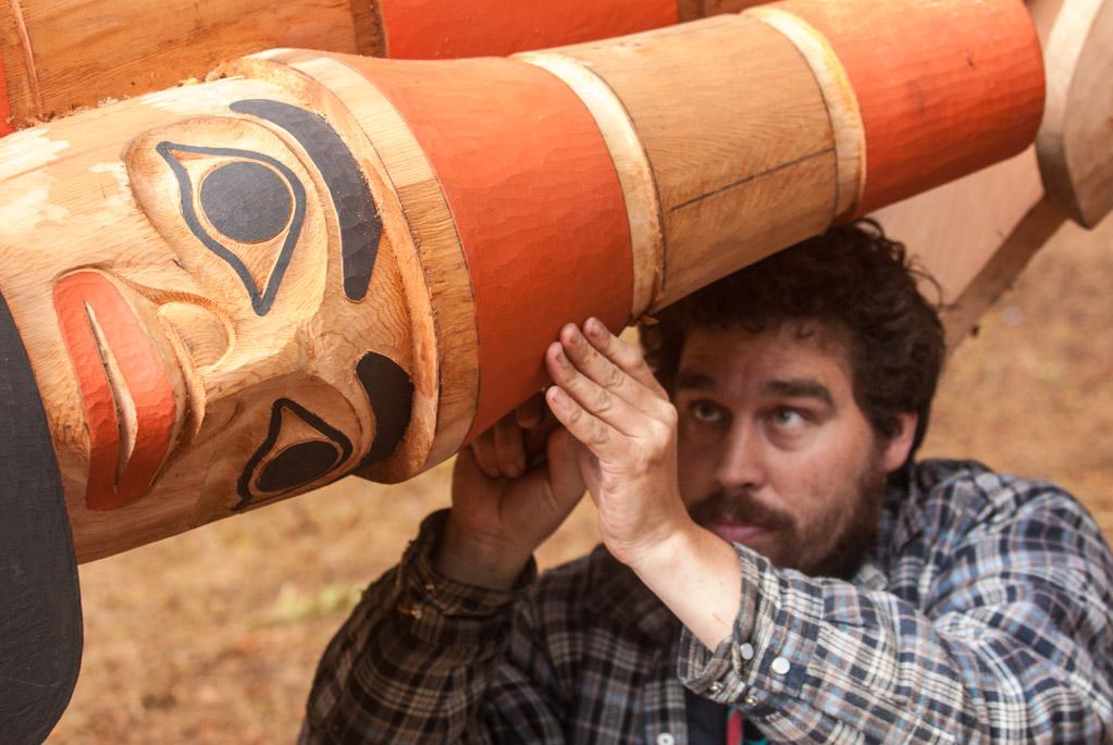 Haida master carver Jaalen Edenshaw