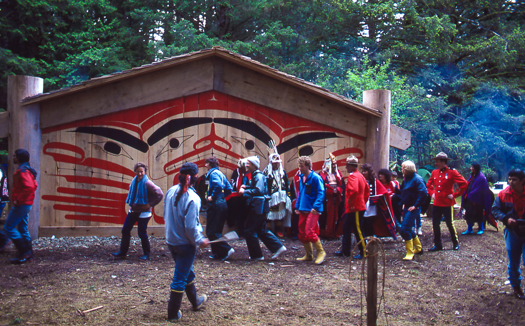 #5 — RCMP Officers and Guests Doing Haida Dancing