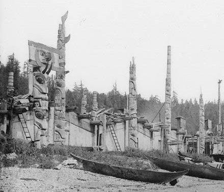 Haida Village, 1878
