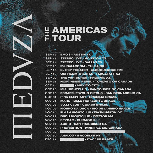 First Americas Tour for @meduzamusic 🔥 🔜🇺🇸🇨🇦🇧🇷🇲🇽🔥