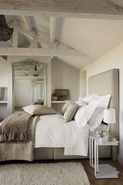 Image Credit   Layered and luxe, this bedroom is so restful and full of texture.