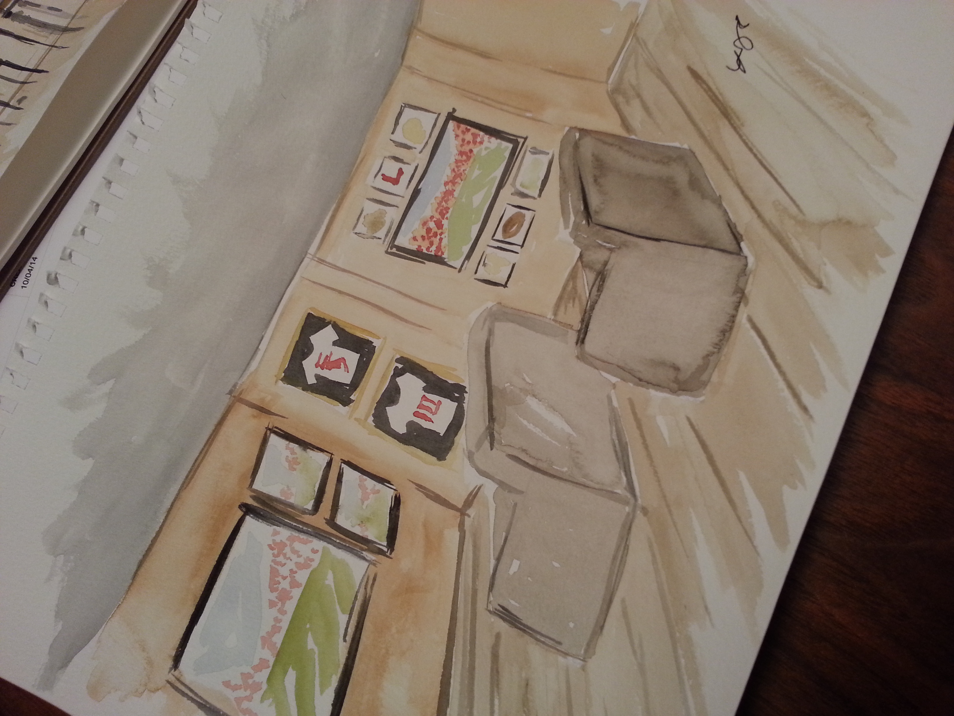 Theatre Area, Mantuary sketch byprincipal designer, Lisa