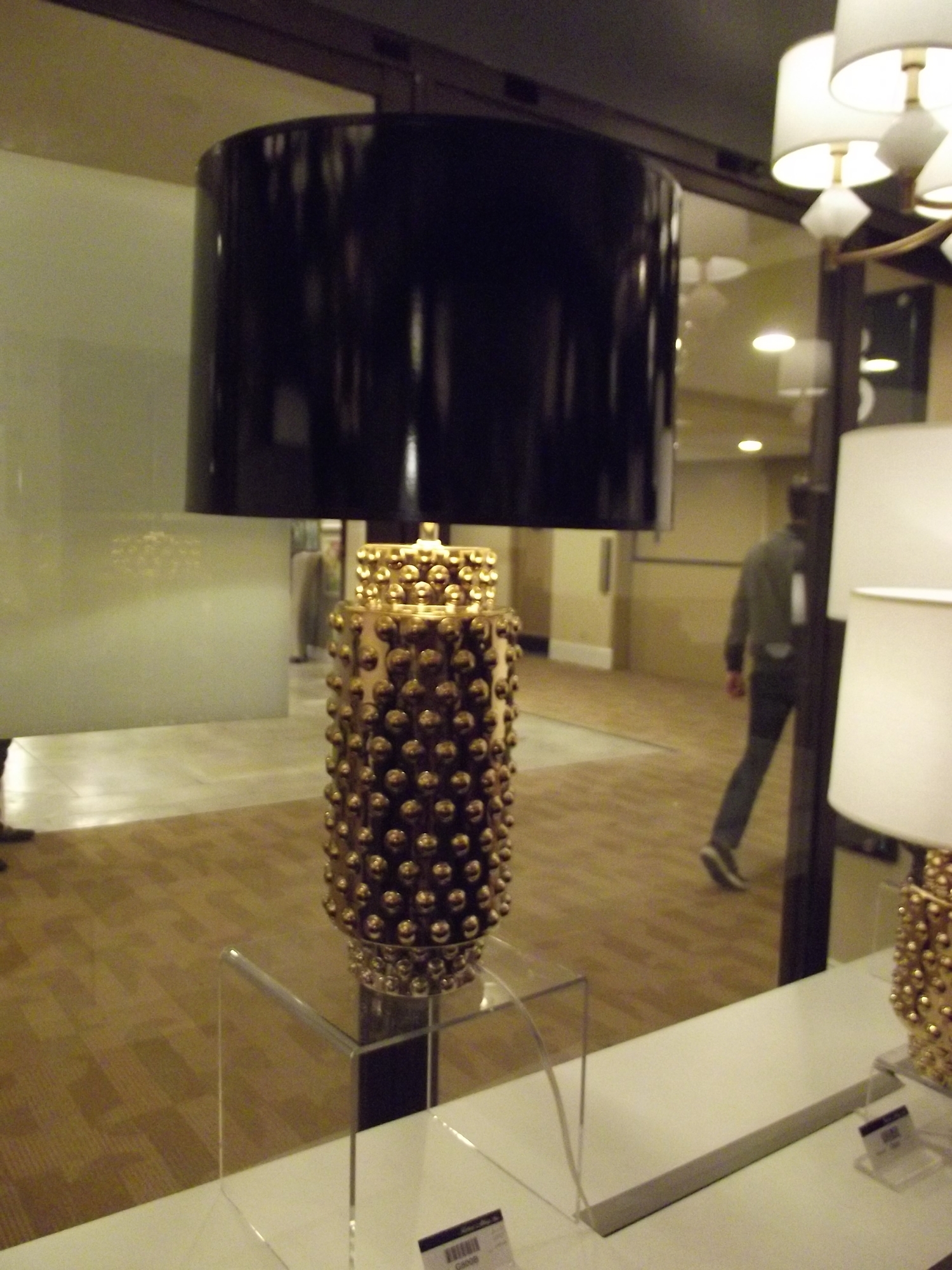 Gold & Black Table Lamp
