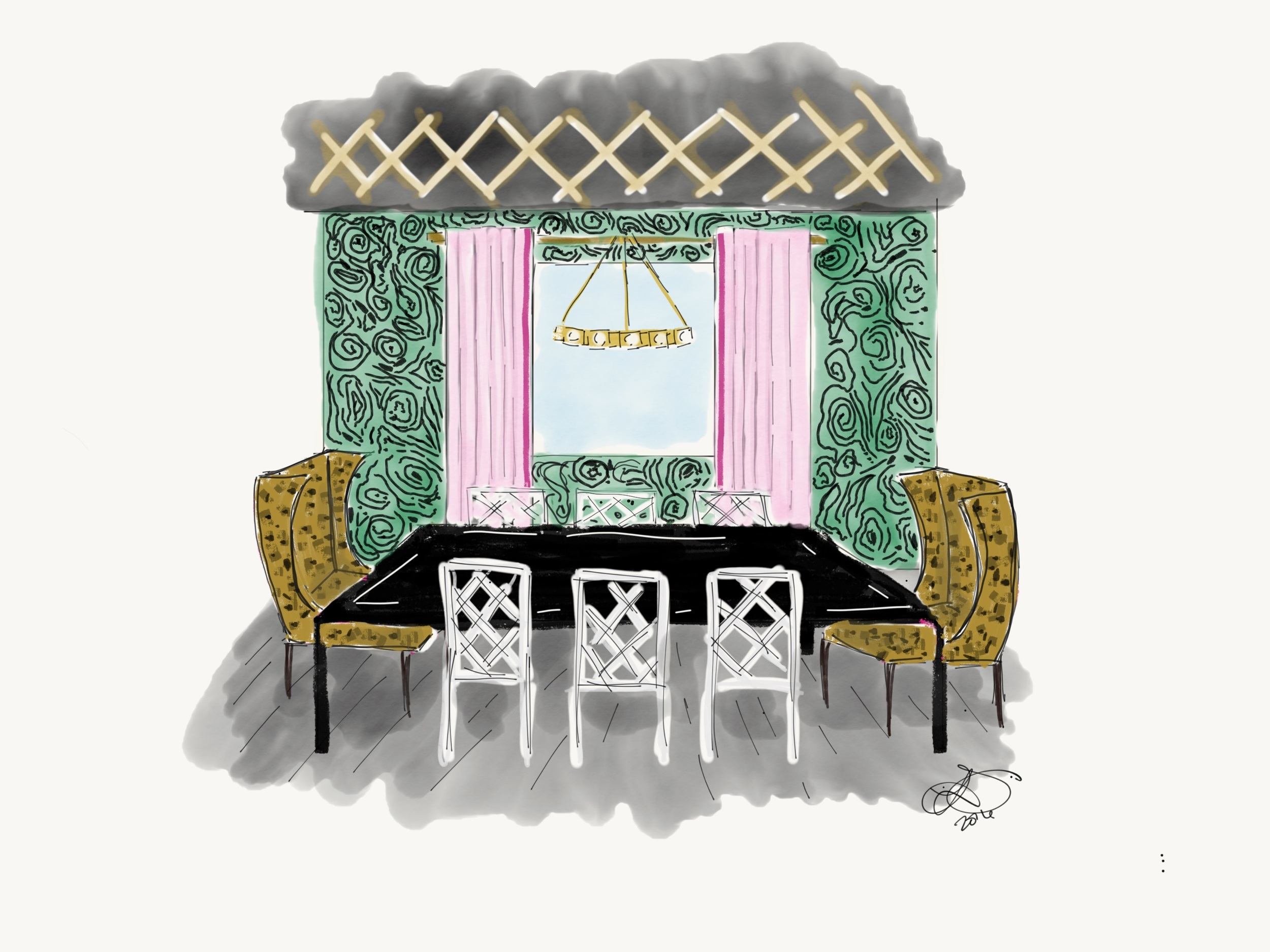 leopardprint_interiordesign_diningroom_lisagilmoredesign