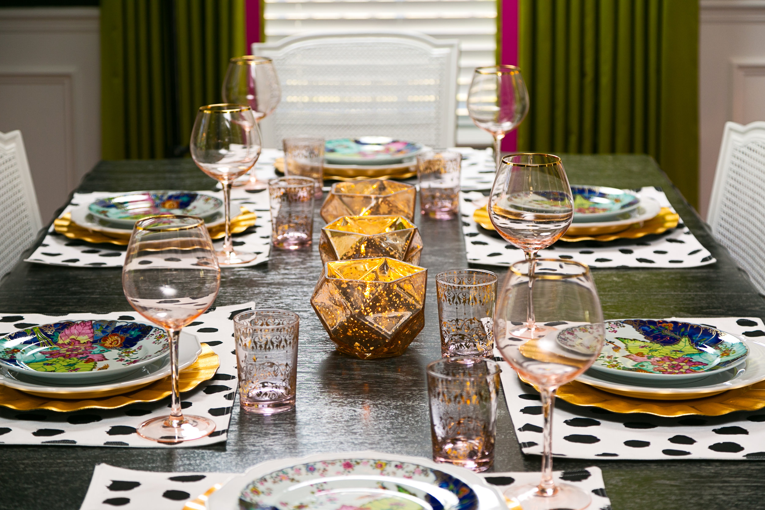 colorful table setting - lisa gilmore design