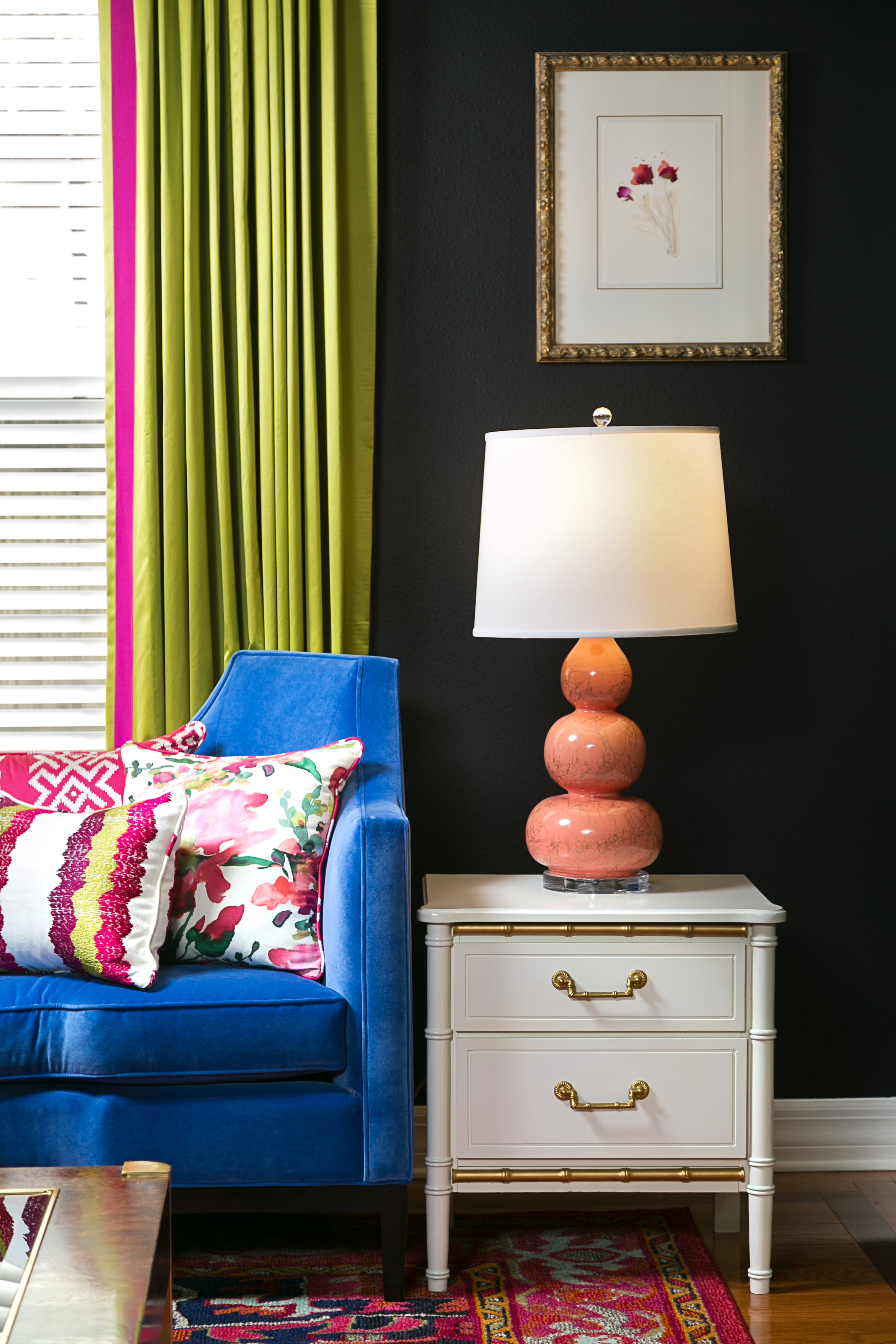 chic_colorful living room_lisagilmoredesign