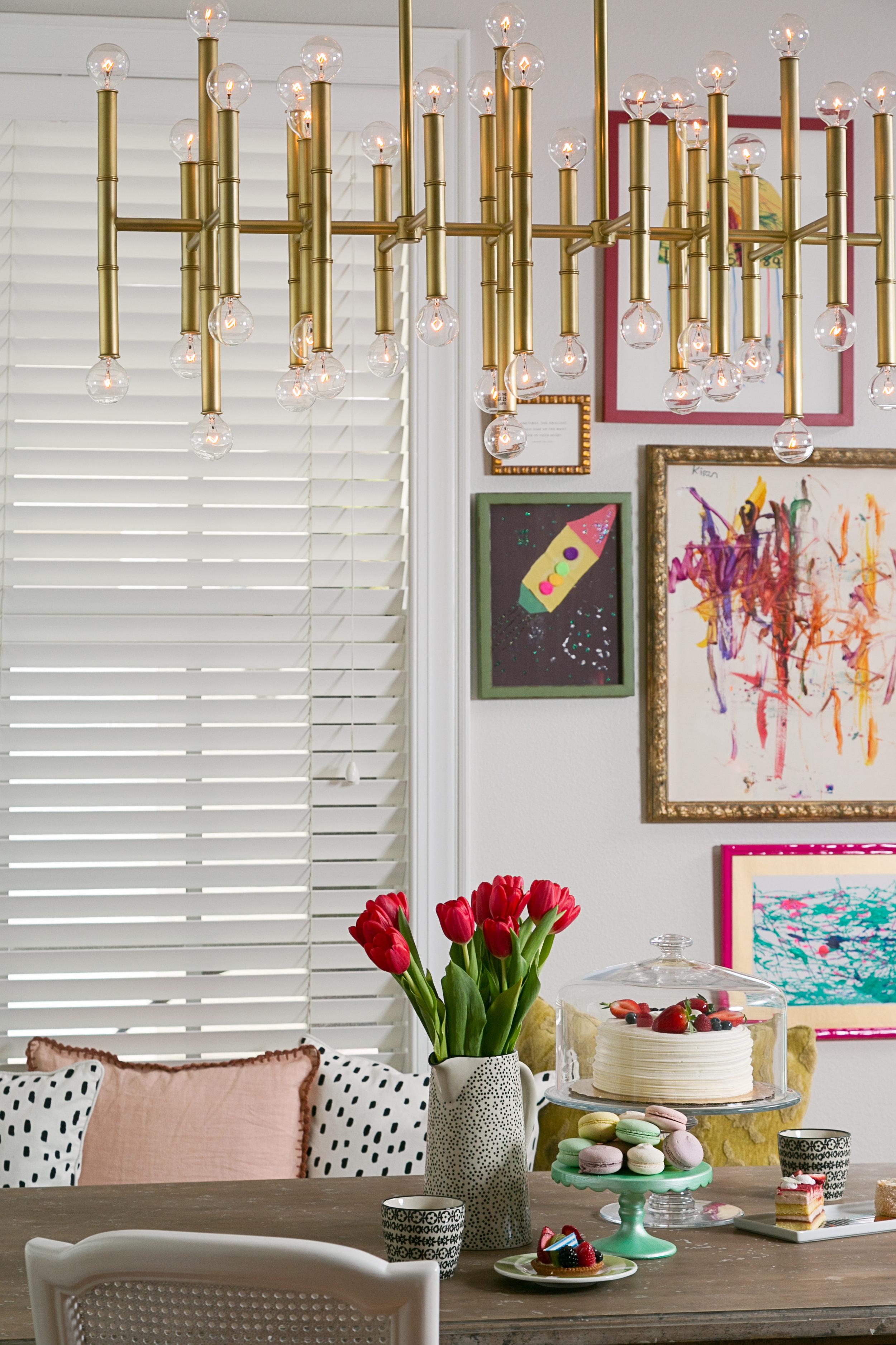 glam family friendly kitchen nook - lisa gilmore design